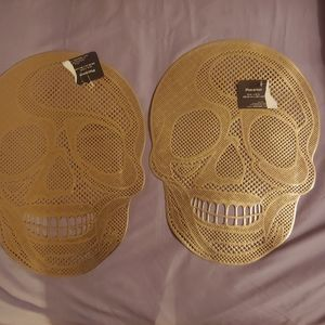 Kitchen - Gold Skull Placemats